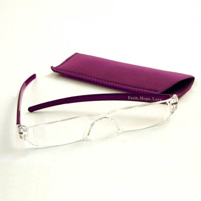Reading Glasses, Purple Bows,1.00 Strength  -