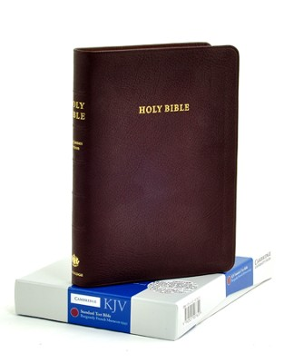 KJV Standard Text Bible, Moroccan leather, Burgundy   -