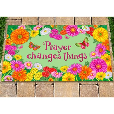 Prayer Changes Things Door Mat  -