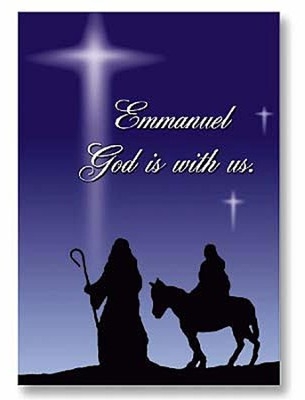 Emmanuel God With Us Christmas Cards, Pack of 20   -