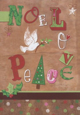 Noel, Love, Peace Christmas Cards, Pack of 20   -