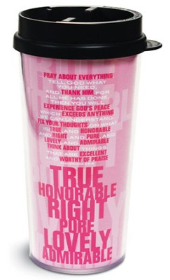 Phil 4:6-8 Stacked Tumbler Mug  -
