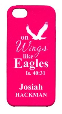 Personalized iPhone 5 Case for Personalization, Eagle, Pink  -