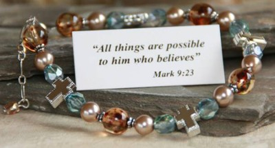 All Things Possible Bracelet, Blue  -