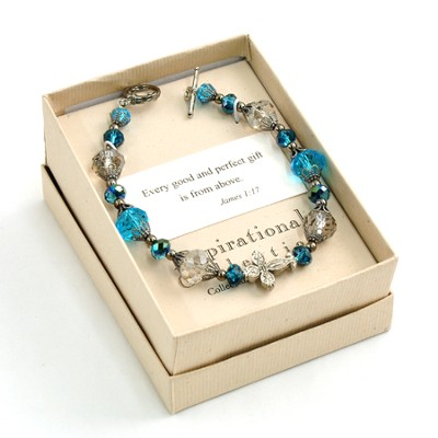 Every Good and Perfect Gift Bracelet, Blue  -