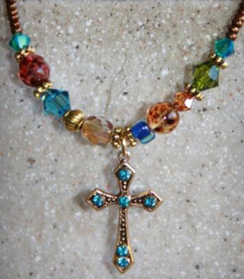 When the Rainbow Is In the Cloud Necklace, Cross   -