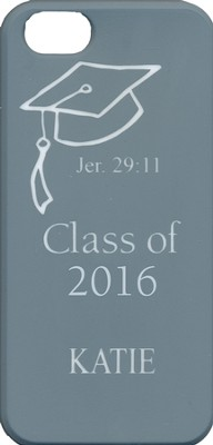 Personalized, iPhone 4 Case, Graduation, Gray   -