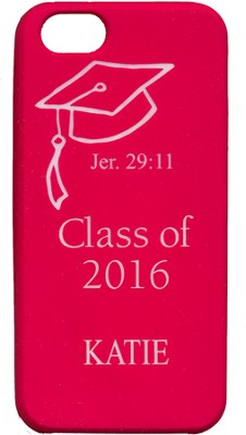 Personalized, iPhone 4 Case, Graduation,Pink   -