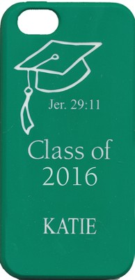 Personalized, iPhone 4 Case, Graduation, Green    -