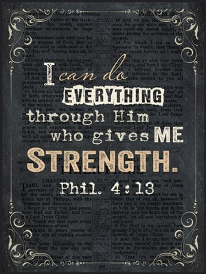 I Can Do Everything Through Him, Chalkboard Wall Art  -