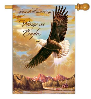 Wings As Eagles Flag, Large  -