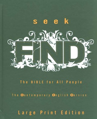 CEV Seek Find: The Bible for All People, large-print hardcover  -     Edited By: American Bible Society