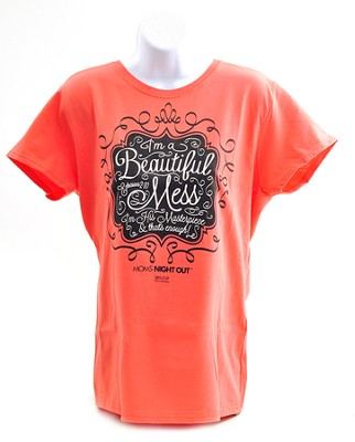 Beautiful Mess Shirt, Coral, XXX-large   -