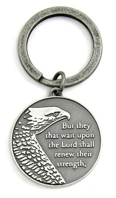 Wings As Eagles Keyring, Isaiah 10:31   -
