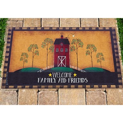 Welcome Family and Friends Door Mat  -