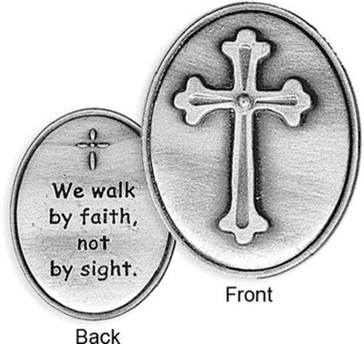 We Walk By Faith Pocket Token  -