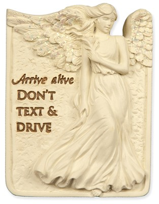 Arrive Alive, Don't Text and Drive Visor Clip  -