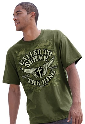 Called to Serve the King Shirt, Green, Medium (38-40)  -