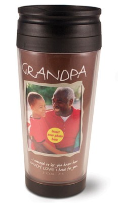 Grandpa Photo Mug Travel Tumbler  -