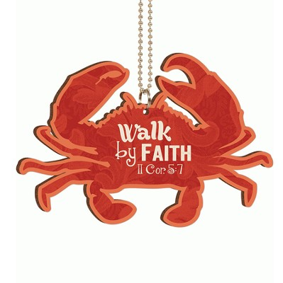 Crab, Walk By Faith, Car Charm  -