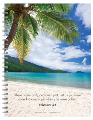 Tropical Beaches, 2015 Spiral Planner, 16 Month  -