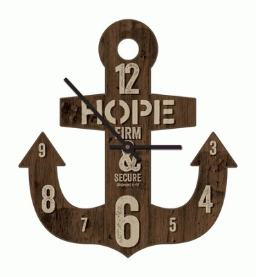 Anchor Hope, Firm, and Secure Clock  -