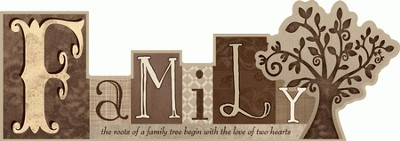 Family, The Roots of A Family Tree, Word Plaque  -