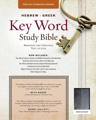 ESV Key Word Study Bible, Imitation Leather, Black, Thumb-Indexed  -