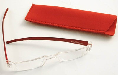 Reading Glasses, Red Bows, 1.00 Strength  -
