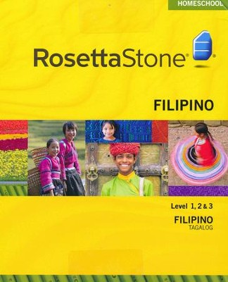 Rosetta Stone Tagalog Level 1-3 Set with Audio Companion Homeschool Edition, Version 3  -
