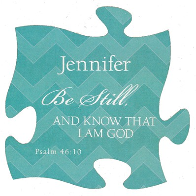 Personalized, Puzzle Magnet, Be Still, Teal   -
