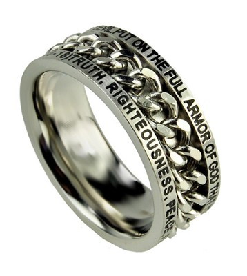 Chain Ring, Armor of God, Size 8  -