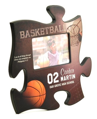 Personalized, Puzzle Photo Frame, Basketball   -