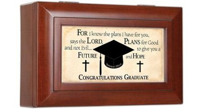 For I Know the Plans, Congratulations Graduate Music Box  -