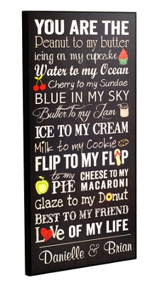 Personalized, You Are The..., Large Plaque, Black   -