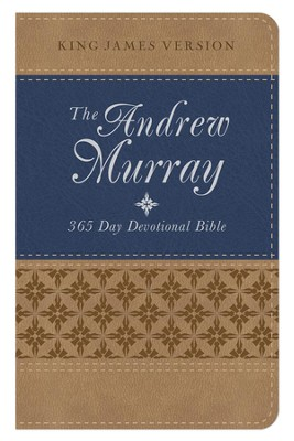 The KJV Andrew Murray 365-Day Devotional Bible- tan/blue  -
