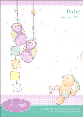 Precious Gifts Baby Cards, Box of 12  -
