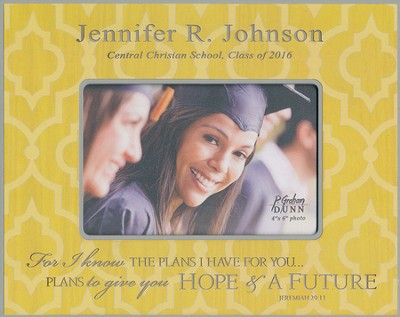 Personalized, Print Photo Frame, Graduation, 4x6,Yellow   -