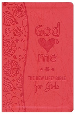 God Hearts Me New Life Bible for Girls, Flexible plastic/vinyl cover  -