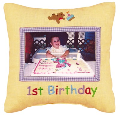 1st Birthday Photo Pillow  -