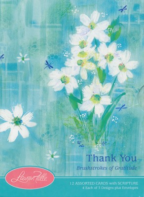 Brushstrokes of Gratitude Thank You Cards, Box of 12  -