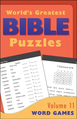 World's Greatest Bible Puzzles-Volume 11 (Word Games)  -