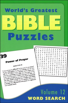 World's Greatest Bible Puzzles-Volume 12 (Word Searches)  -