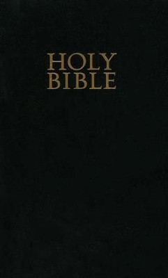 KJV Gift & Award Bible, Imitation leather, Black  - Imperfectly Imprinted Bibles  -