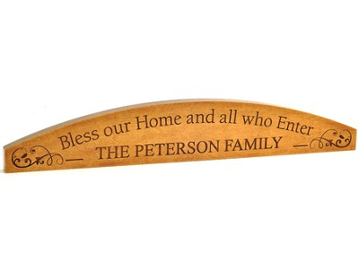 Personalized, Doorkeeper, Bless Our Home, Maple    -