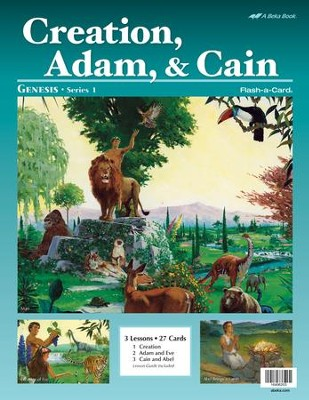 Creation, Adam, and Cain Flash-a-Card Set   -