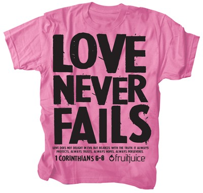 Never Fails Shirt, Pink, Medium  -
