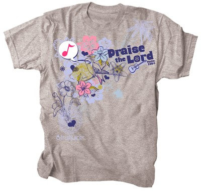 Praise Bird Shirt, Gray, Large  -