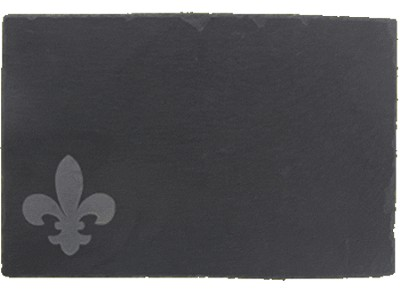 Etched Fleur de Lis Slate Cheeseboard with Chalk  -