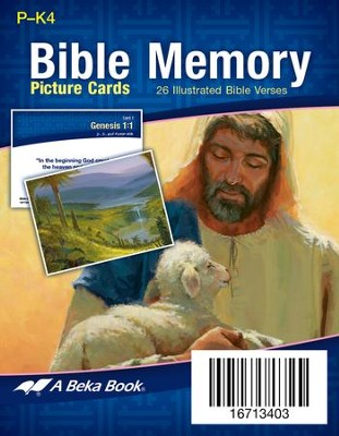 Miniature Preschool Bible Memory Picture Cards   -